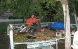 Nachtlager irgendwo am Panj - jedenfalls vor Kalaikhum.