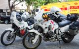 Die letzten Kilometer im Sattel liegen viel zu schnell hinter uns - im Hof der Spedition, die die Motorräder nach Deutschland verschiffen wird.
