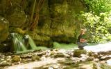 Wasserfälle in der Saklikent-Schlucht, die 300m tief in den Felsen liegt.
